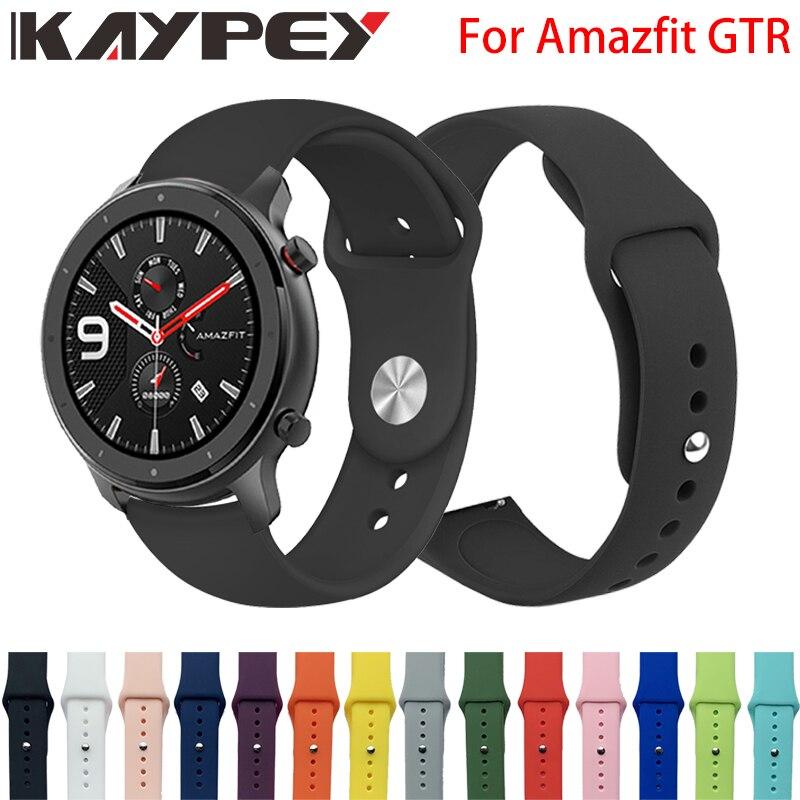 Silicone Soft Strap For Xiaomi Huami Amazfit GTR 42mm Smart Watch Wearable Wrist Bracelet Amazfit Gtr 47mm Watchband Strap