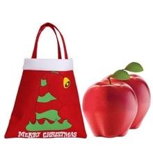Christmas Tote Bag Non-Woven Apple Bag Portable Hol