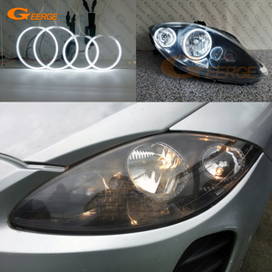 Image 2 - For SEAT Altea 2004 2015 headlight Excellent Ultra bright CCFL Angel Eyes Halo Rings kit car Accessories