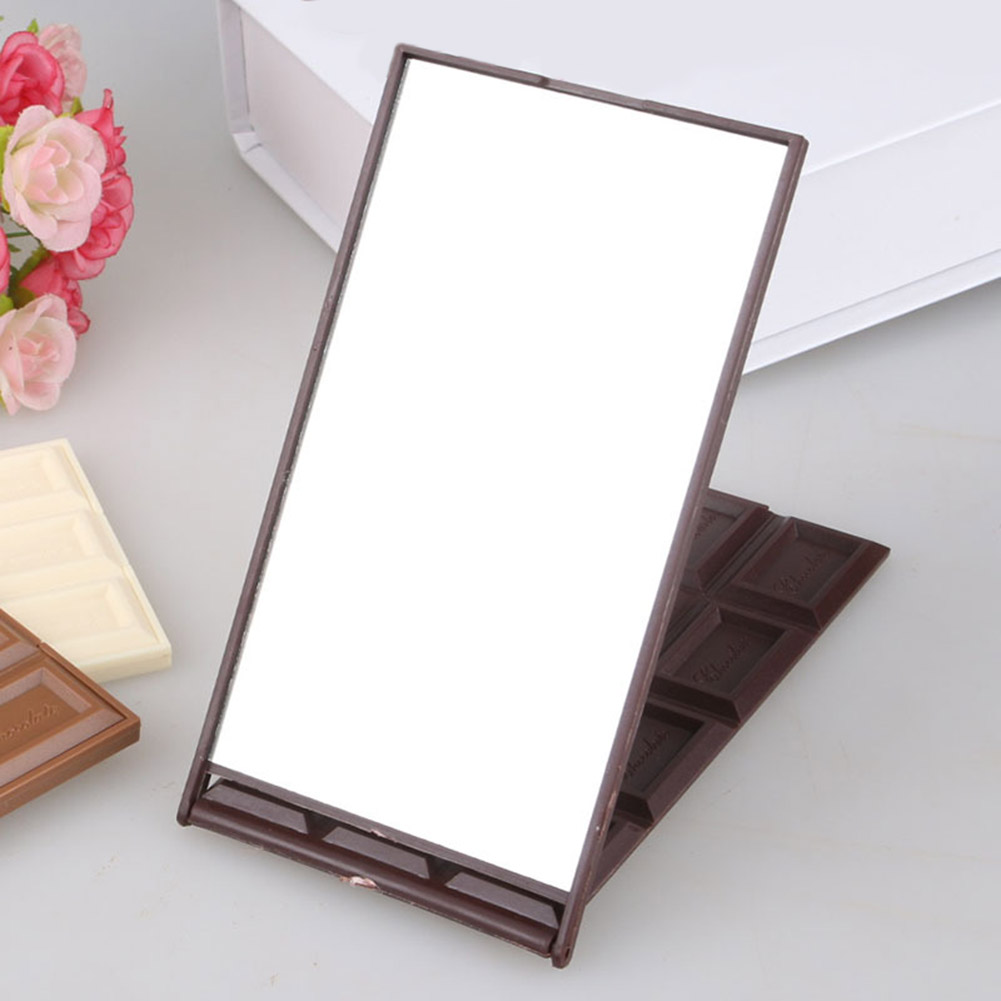 Dropshipping Fashion 12 Slot Chocolate Makeup Cosmetic Mirror Compact Foldable Mirrors Beauty Tools
