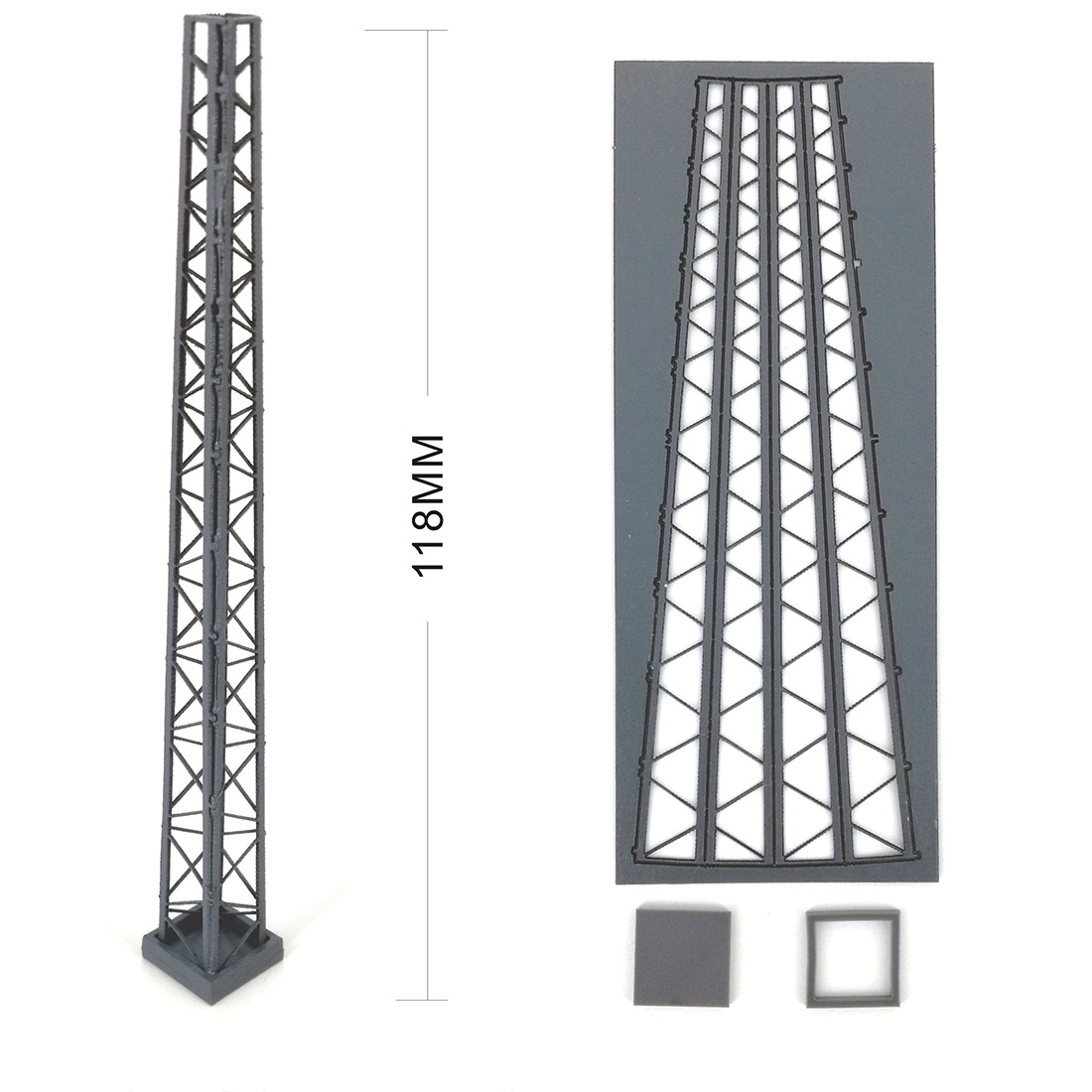 New 1Pc 1:87 HO Scale Train Railway Scene Decoration Assembly Brackets Model For Sand Table