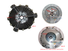 three levers type  clutch assembly with PTO disc for JINMA tractor parts, JINMA 184 204 224,