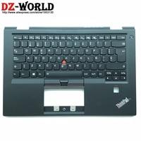 New C Cover Palmrest Upper Case With ES Spanish Backlit Keyboard for Lenovo Thinkpad X1 Carbon 4th Gen 4 Laptop 01AV200 01AV161