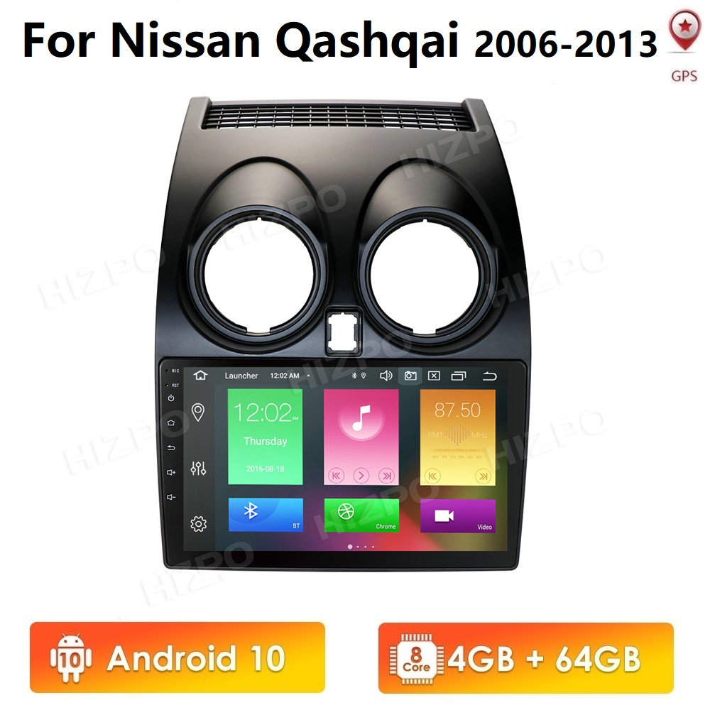 <font><b>Android</b></font> <font><b>10</b></font> 4GB+64GB PX5 CarPlay Car Radio Multimidia Video Player GPS For <font><b>Nissan</b></font> <font><b>Qashqai</b></font> <font><b>1</b></font> J10 2006-2013 2 din with Mirrorlink image