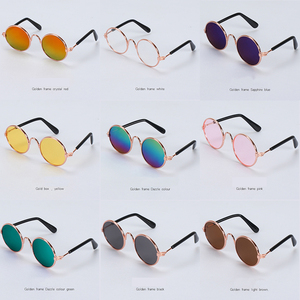 1PC Lovely Pet Cat Glasses Dog Glasses Pet Products Kitty Toy Dog Sunglasses Photos 3 cm Pet Accessoires Round Colorful(China)