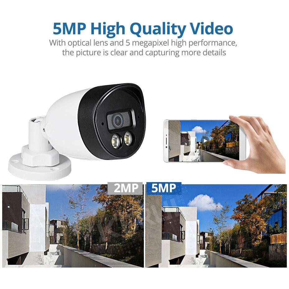 KERUI Gesicht Rekord 5MP HD POE Kamera AI IP Kamera Im Freien Wasserdichte Video Überwachung Kamera NVR Kit CCTV Sicherheit System