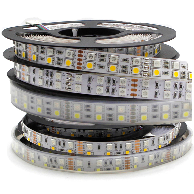 5m Double Row 600 LED Strip light 5050 RGB + 2835 White / Warm White 12V 120 LED/m led Flexible ribbon tape lamp RGBW