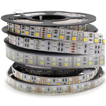 5m Çift Sıralı 600 LED Şerit ışık 5050 RGB + 2835 Beyaz/Sıcak Beyaz 12V 120 LED led/m led Esnek şerit bant lambası RGBW