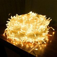 10 м, 20 м, 30 м, 50 м, 100 м, светодиодный водонепроницаемый фонарь для улицы, 220 В/110 В, Рождественская гирлянда, вечерние, свадебные, праздничные украшения