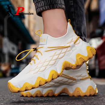 Men Sneakers Casual Shoes Breathable Lightweight Mesh Sneakers Increased Sport Running Shoes For Man Shoes Men Walking Sneakers