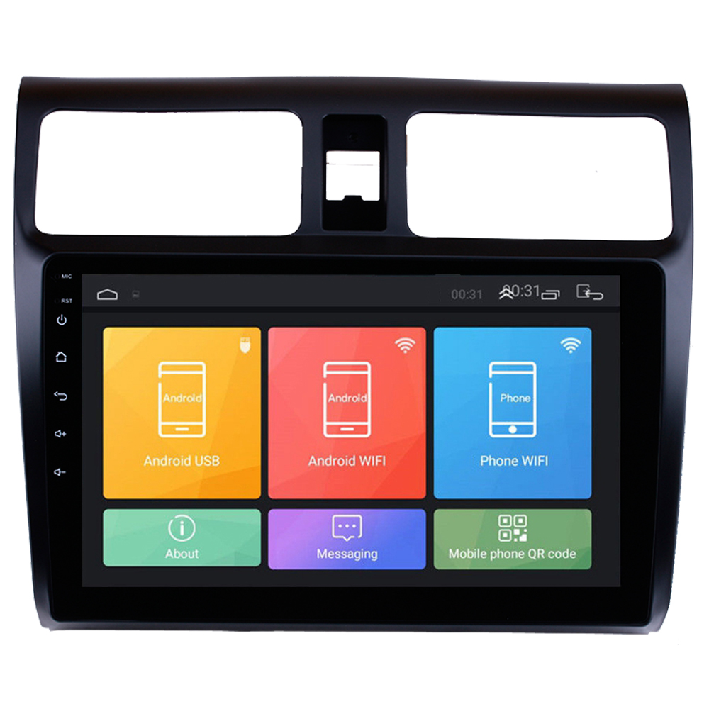 RoverOne Car GPS Navigation For <font><b>Suzuki</b></font> <font><b>Swift</b></font> <font><b>2005</b></font> - 2010 Touch Screen Android 8.1 Radio Stereo Audio Player + Reverse Camera image