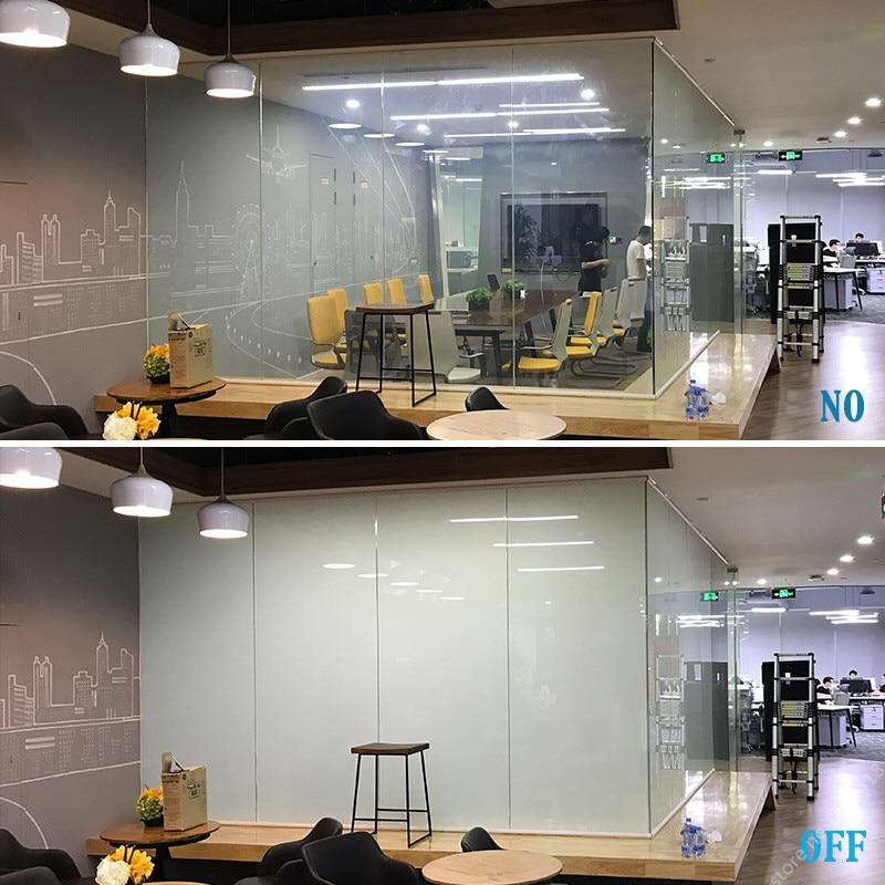 เสื้อกันหนาว SUNICE ฟิล์มอาคารแว่นตาหน้าต่างสมาร์ทฟิล์มสีขาว PDLC ควบคุมอิเล็กทรอนิกส์เปิดและปิ...