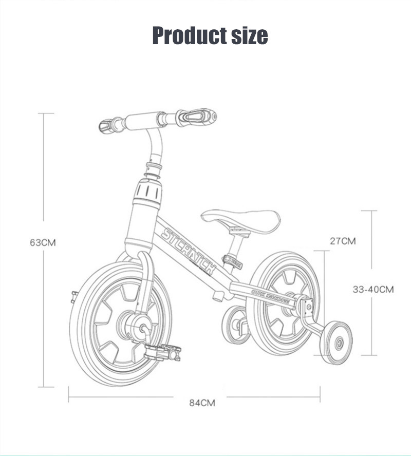 H0f1c1db0451745a286959327b7ec8716f Multifunction 2 in 1 Kids Tricycle + Balance Bike Bicycle For 2~6 Ages Child Toddler Complete Cycling Bike Learn to Ride