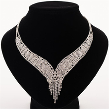 Trendy Crystal Statement Necklaces Pendants Women Fine Jewelry Multi layer Link Chain rhinestone Necklace Bijoux Colares N309 trendy crystal statement necklaces pendants women jewelry multi link chain rhinestone necklace bijoux colares n316