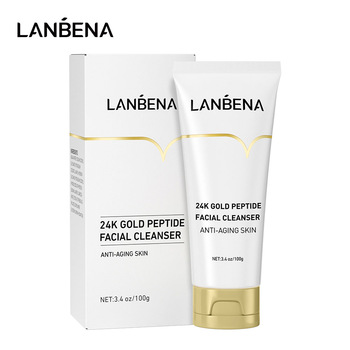 LANBENA Face Cleanser 24K Peptide Anti Aging Dense Foam Facial Cleaner Unclog Firming Antioxidant Grease Dirt Cleaning Skin Care 1
