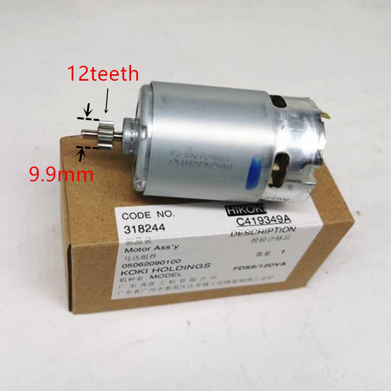 12V 9.6V Motor  Parts 318244 For HITACHI HIKOKI DS12DVF3 FDS12DVA FDS9DVA DS9DVF3 DS12DVFA Motor Cordless Drill Screwdriver