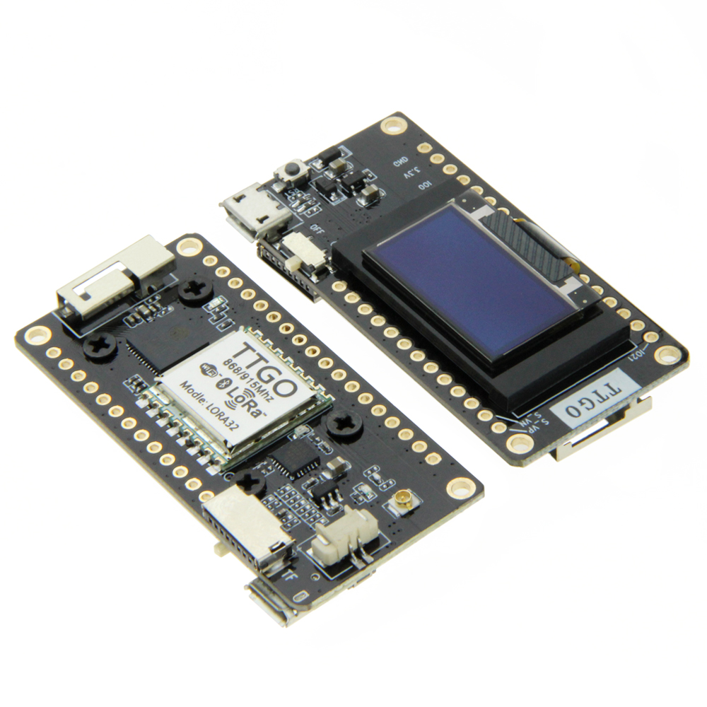 1piece TTGO LORA32 V2.0 433/868/915Mhz <font><b>ESP32</b></font> <font><b>LoRa</b></font> <font><b>OLED</b></font> 0.96 Inch SD Card Display Bluetooth WIFI <font><b>ESP32</b></font> Module With Antenna image