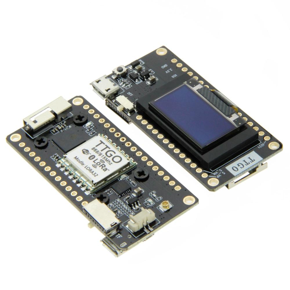 TTGO LORA32 V2.0 433/868/915Mhz ESP32 LoRa OLED 0.96 Inch SD Card Display Bluetooth WIFI ESP32 Module With Antenna