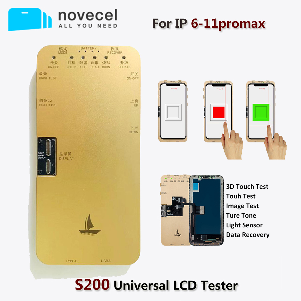 S1 Upgrade Lcd Tester For Iphone X Xr Xs 11pro Max S200 Touch Screen Test Ture Tone Data Recovery Phone Repair Tool Set