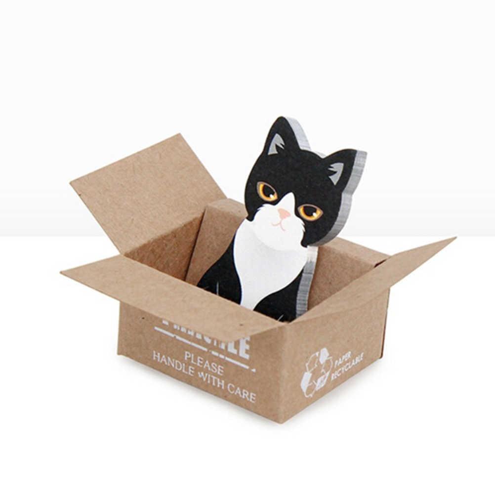 Coreano papelaria bonito dos desenhos animados 3d scrapbooking gato caixa adesivos bloco de notas pegajosas kawaii material escolar escritório