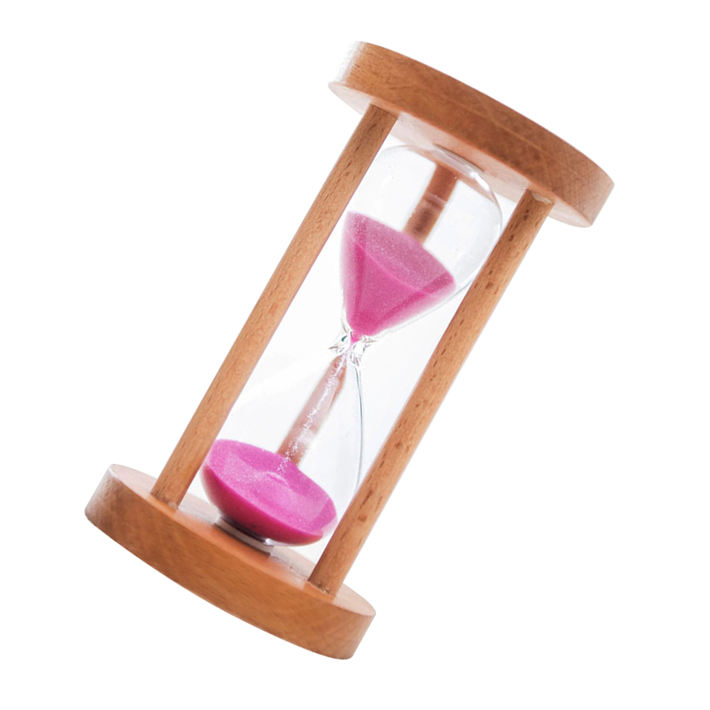 10/15/30 Min Wooden Frame Sandglass Sand Glass Hourglass Timer Clock Table Decor
