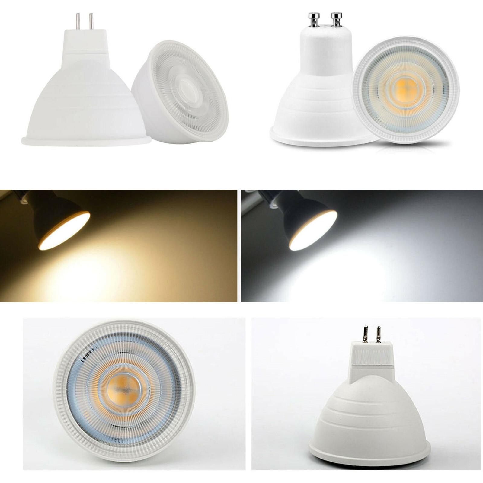Dimmable LED Bulb GU10 Spotlight 7W 220V MR16 GU5.3 LED Lamp COB Chip 30 Degree Beam Angle For Home Office Decoration Lamp Light