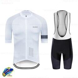 Rapha beyaz bisiklet giyim Ropa Ciclismo Hombre yaz kısa kollu döngüsü elbise Mtb bisiklet Uniforme Maillot Ciclismo triatlon