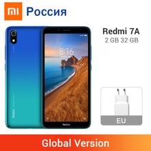 Xiaomi Redmi 7A с глобальной версией, 2 Гб ОЗУ, 32 Гб ПЗУ, 7 A, мобильный телефон, Восьмиядерный процессор Snapdargon 439, 4000 мА/ч, камера 12 МП, 5,45 дюймов, полный экран