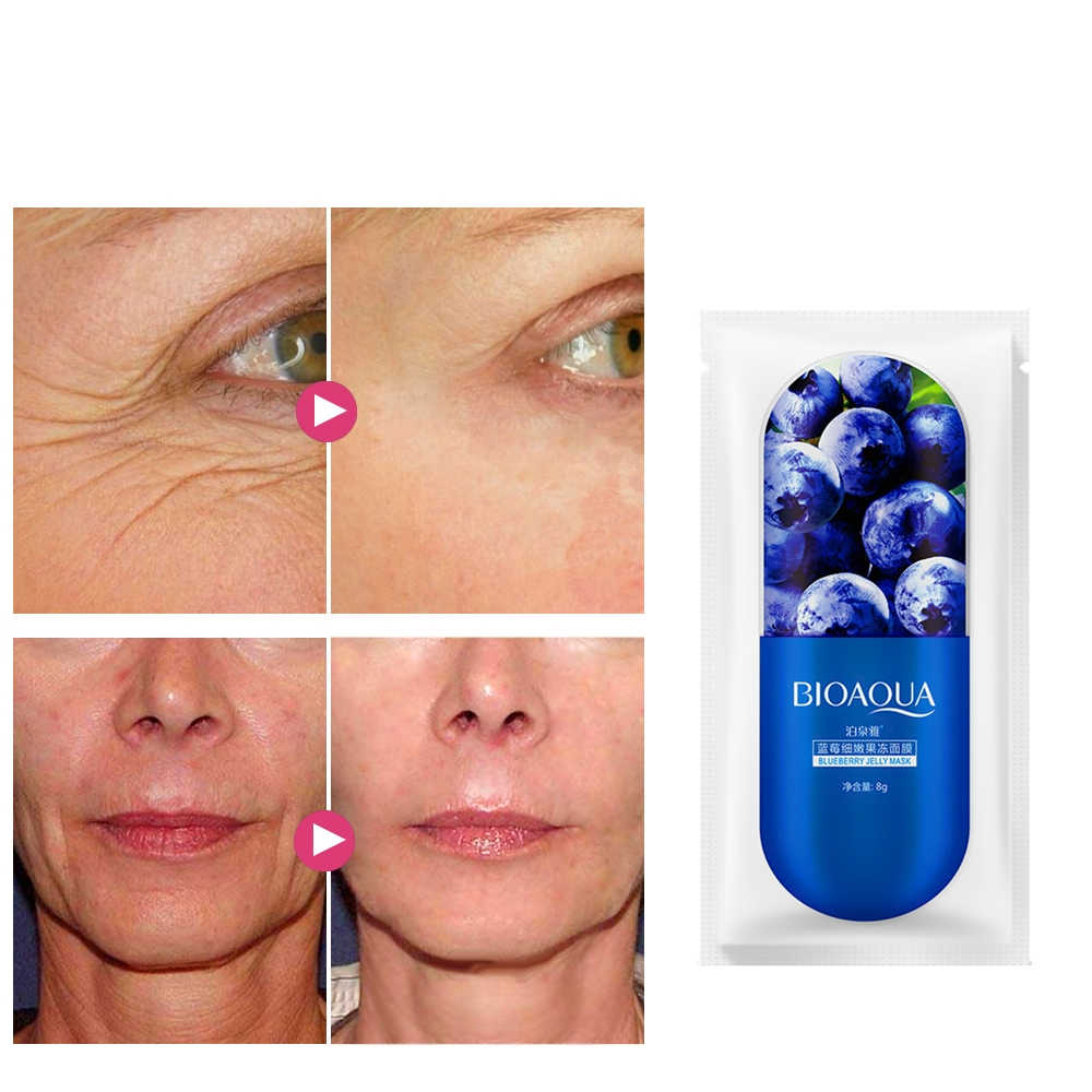 Delay Ageing Fishtail Lines Repair Scar Face Mask Mites Removal Acne Spots Whitening Skin Anti Aging Face Pack Mask Sheet 1 Bag