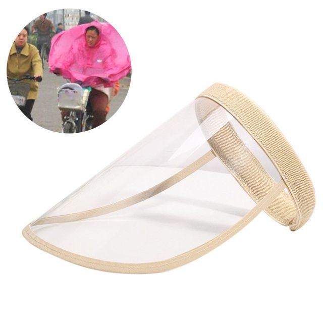 Adult Kids Protective Empty Top Sun Hat Clear Full Face Shield Anti Splash Saliva Eye Protection Outdoor Headband Cap 3
