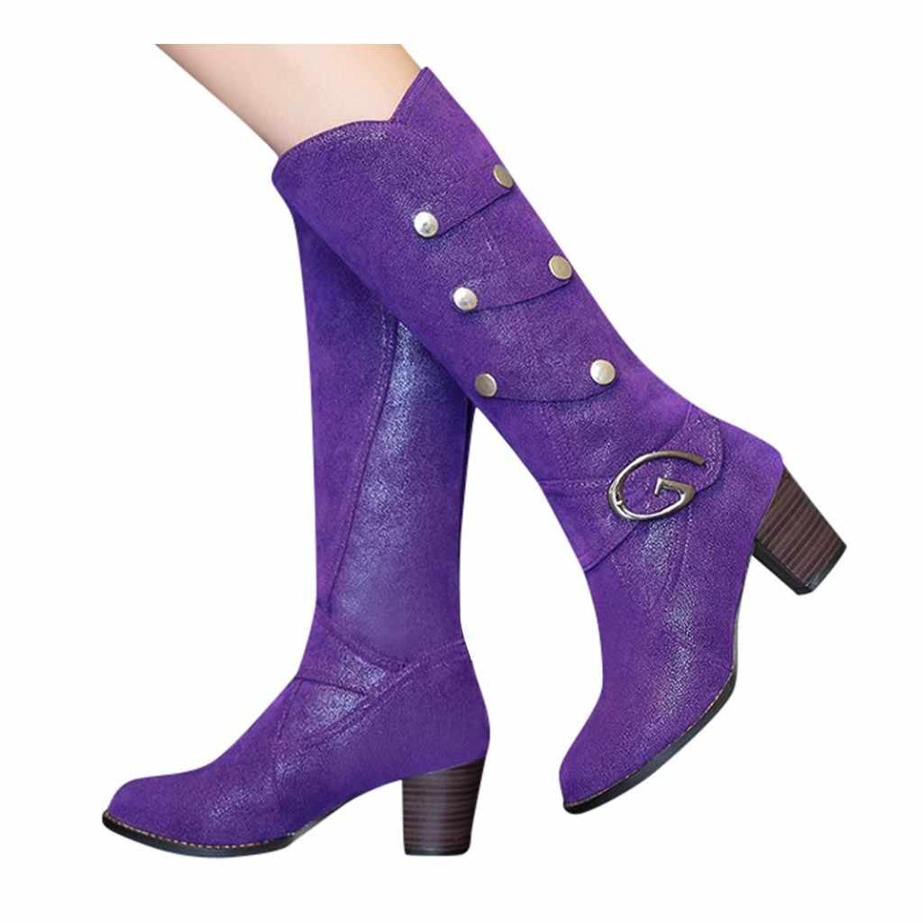 Invierno cálido piel hasta la rodilla botas altas para mujer