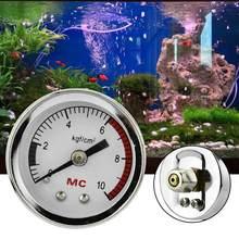 Medidor de pressão do tanque de peixes do aquário do dióxido carbono medidor de ar co2 diy grama aquática paisagem mesa pressão ar