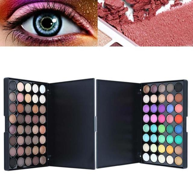 40 Color Eyeshadow Pallete Warm Color Smoky Makeup Palette Matte Multicolor Eyeshadow Palette Lasting Professional 1pc 3