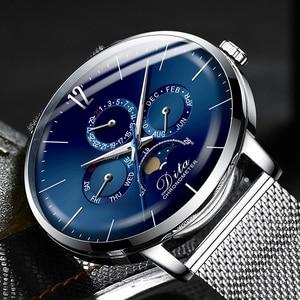 2020 ditawatch relógio de luxo dos homens 30m à prova dwaterproof água data relógios esportes para homens quartzo relógios de pulso casuais relogio masculino