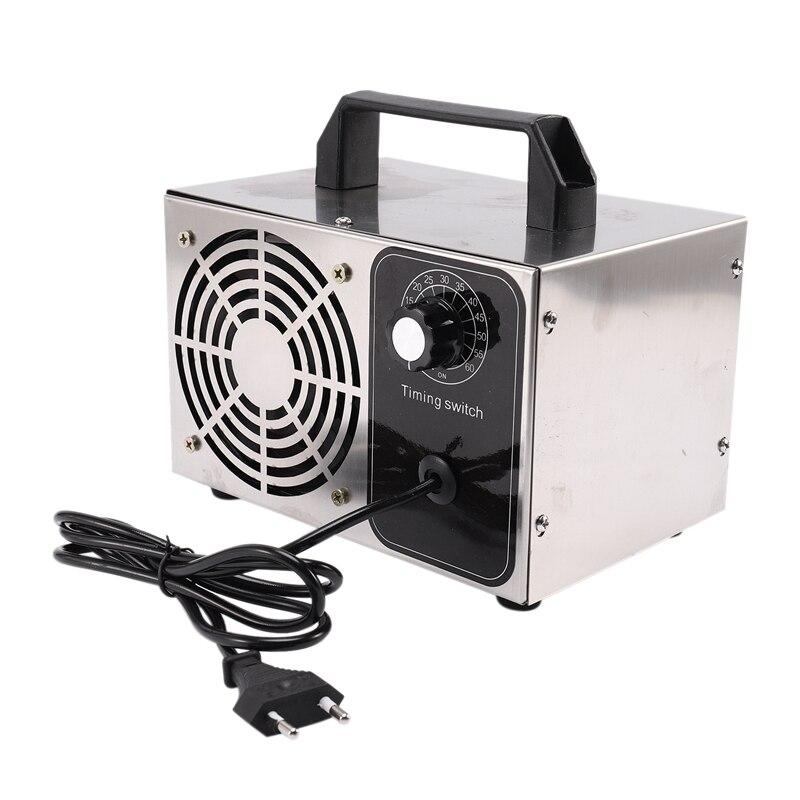 24 g/h 220 v gerador de ozônio máquina desinfecção filtro ar purificador ventilador para casa carro formaldeído interruptor do tempo plugue da ue