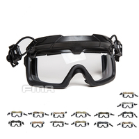 FMA Tactical Helmet Safety Goggles 3mm White lens Split Anti Fog Goggles TB1333 W Suit for Helmet