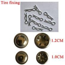 10 acessórios elétricos do pneu da fixação do carro das crianças dos pces, baioneta da fixação do pneu, tampão de aço fixo e baioneta para rodas e eixos