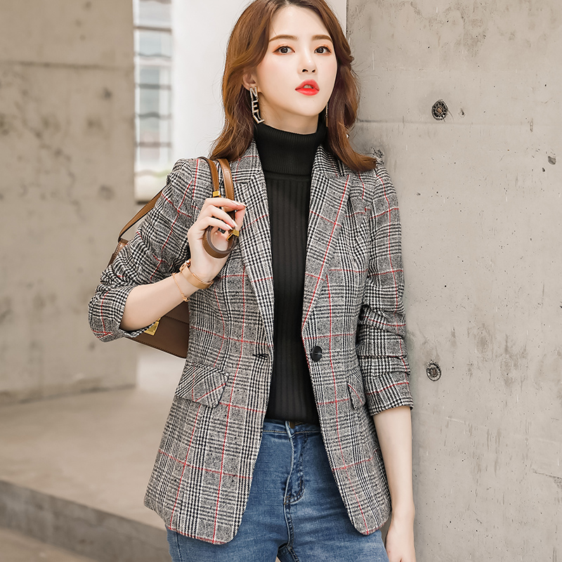 England Style High-quality Plaid Coat  1