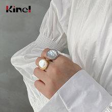 Kinel кольцо из стерлингового серебра 925 пробы в виде ракушки