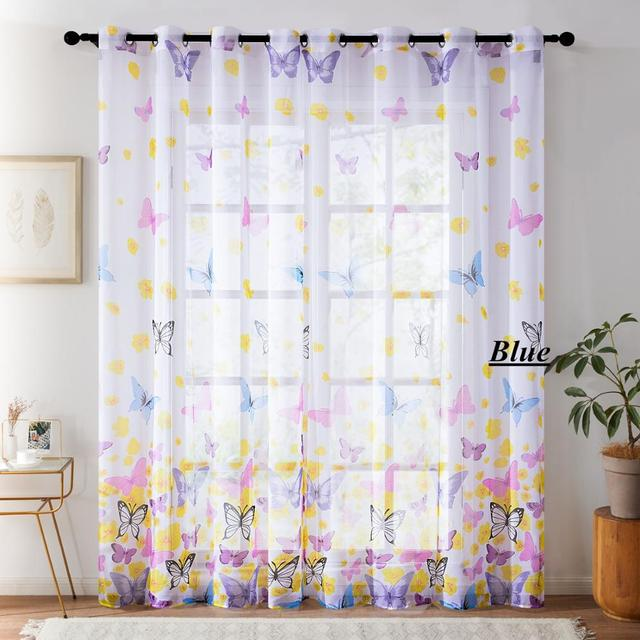 Butterfly Sheer Curtains 4