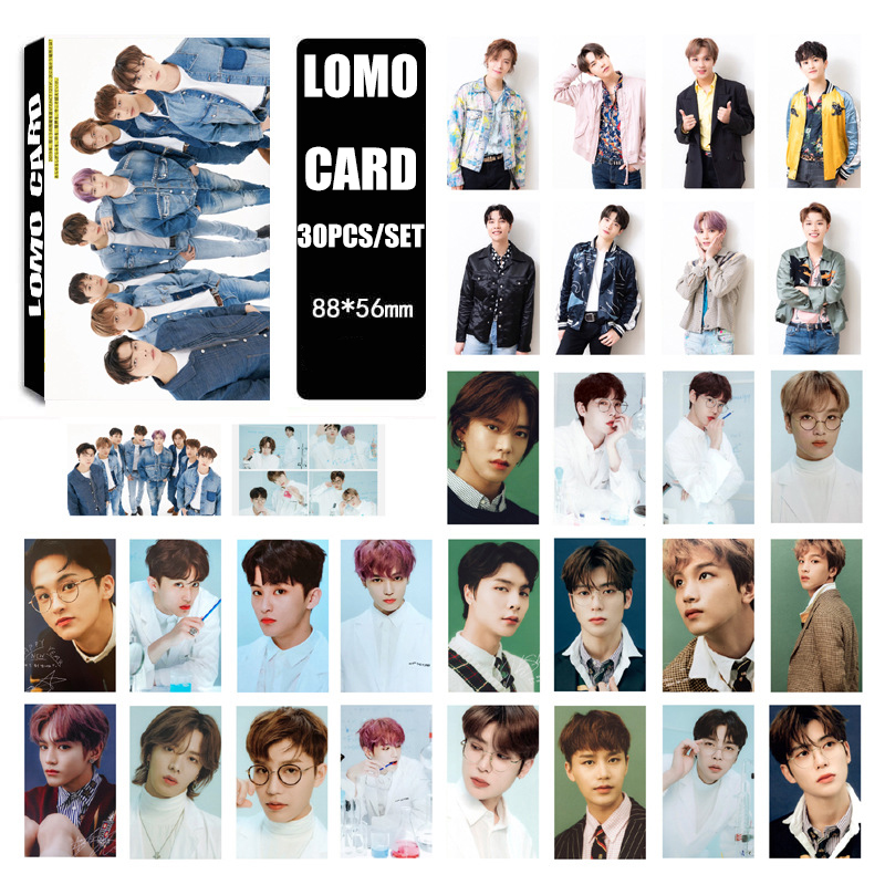 30PCS/Set 2020 NEW NCT Dream NCT127 WAYV Photo Card Poster Bookmark Lomo Cards Self Made Paper HD Photocard Fans Gift Collection