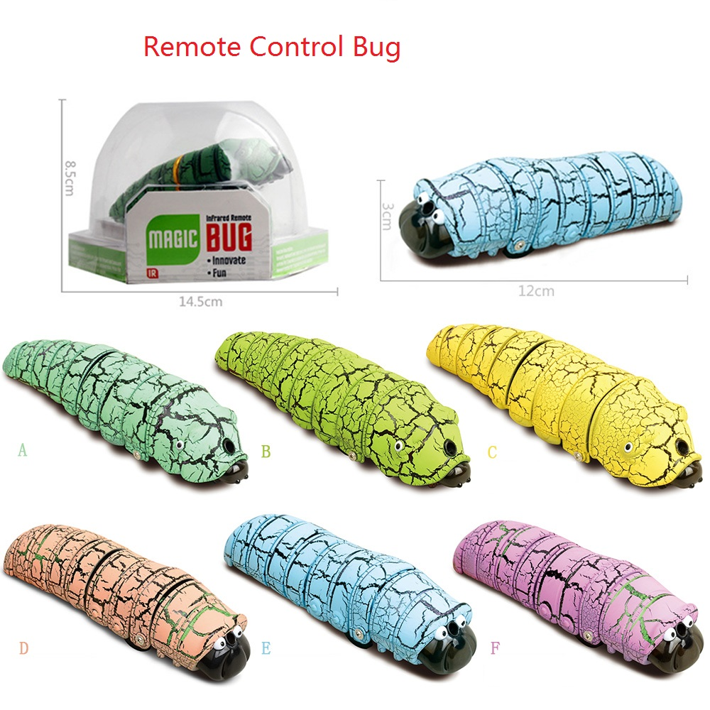 Funny Gadget Infrared Scare Cheat Pluster Remote Control Bionic Worm Plastic Bromas Toy Magic Bug Indoor Play Game Halloween Day in RC Robots Animals from Toys Hobbies