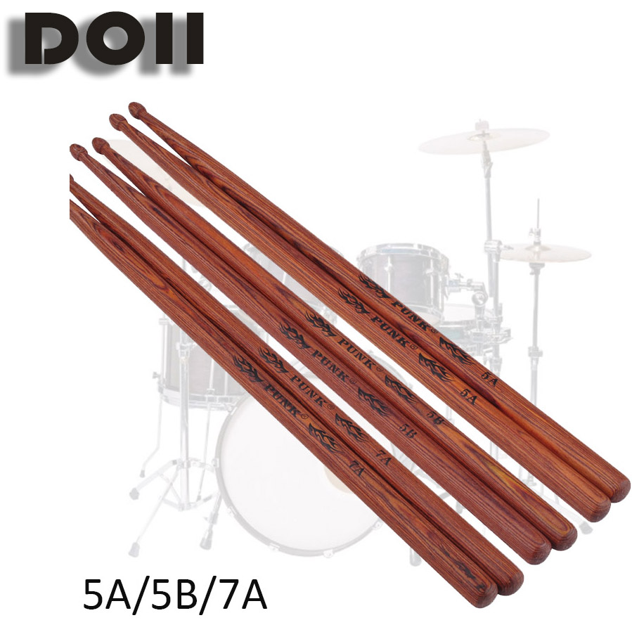 Professional Drum Sticks 5A Hickory Walnut Wood 5B Drumsticks 7A Musical Instruments One Pair