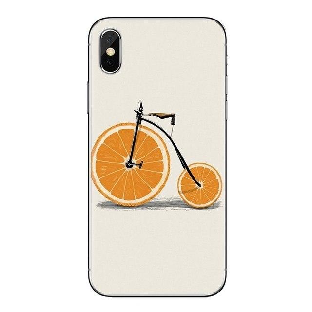 fashion Minimalist bicycle For Xiaomi Mi6 Mi 6 A1 Max Mix 2 5X 6X Redmi Note 5 5A 4X 4A A4 4 3 Plus Pro TPU Transparent Bag Case