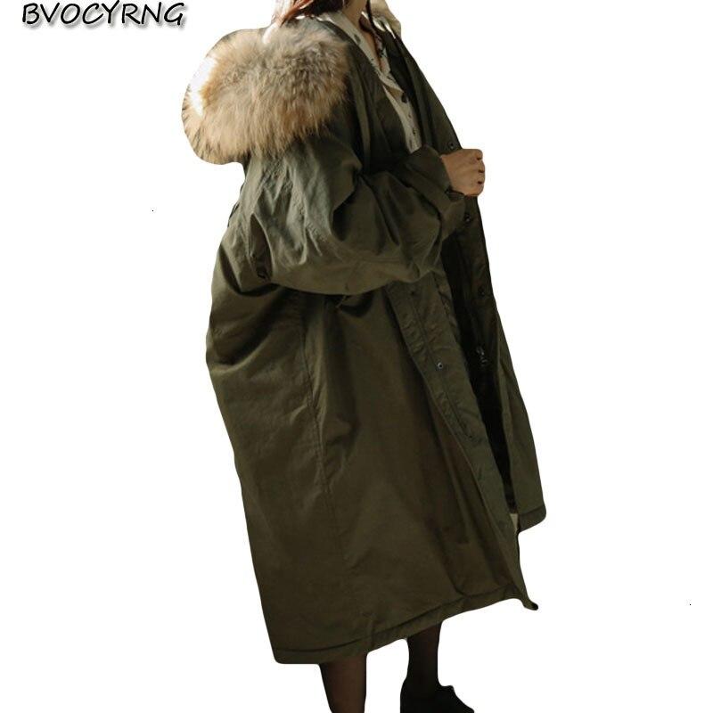 2019 new donut jacket women winter fashion white ducks fat parka long loose woman's   coat   big fur collar random overcoat