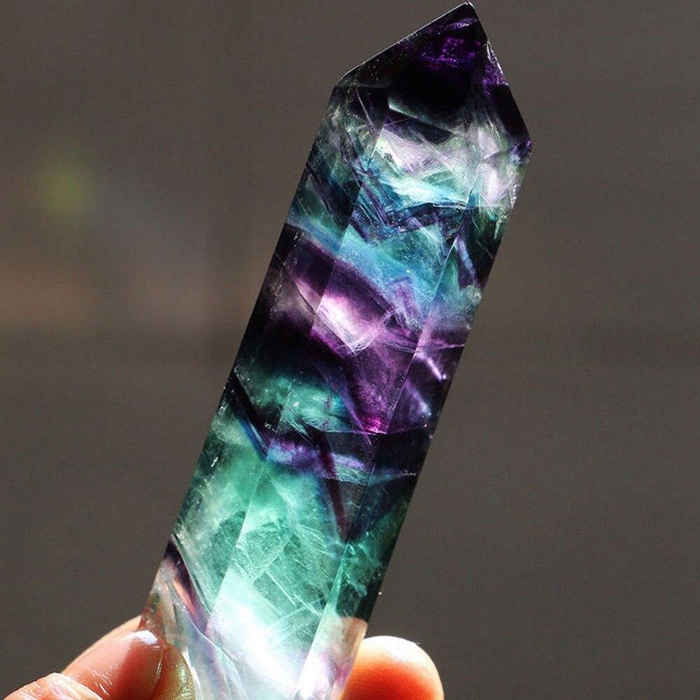 1 шт., натуральный флюорит, шестигранная колонна, кристальная точечная лечебная палочка, кварцевый минеральный кристалл рейки, украшения дл...