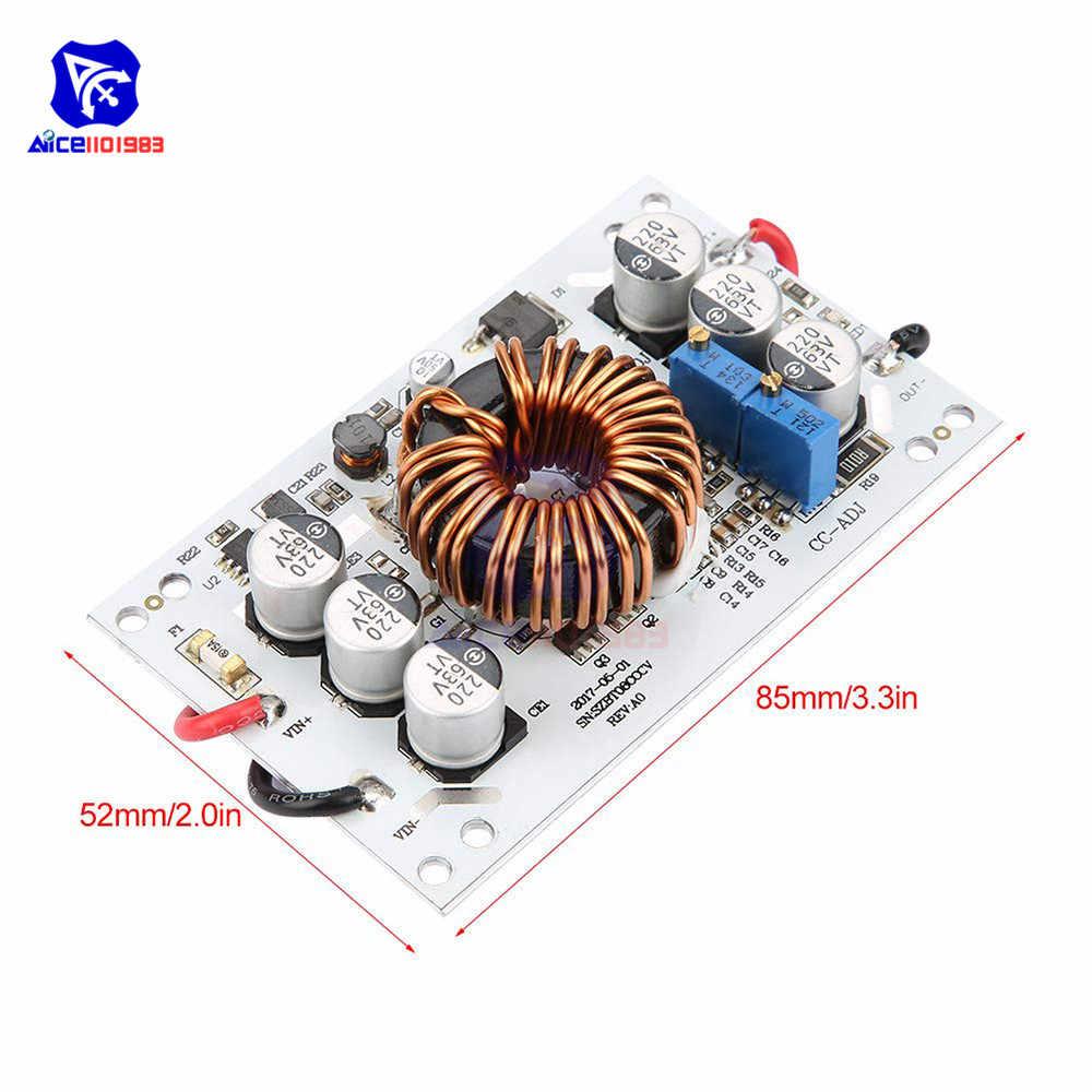 CC/CV DC-DC, 10 -60V, to12 -60V, 10A, 600W, módulo de suministro de potencia de impulso ajustable, transformador no aislado, regulador de voltaje