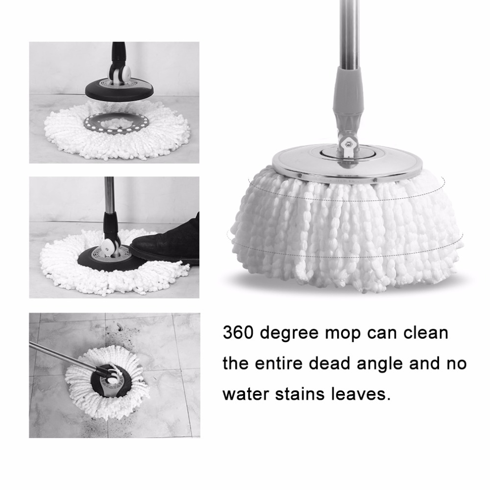 2017 Home Use Super Soft Microfiber Home Cleaning Floor Mop Heads 360 Degree Rotation Cleaning Replacement Round Floor Mops