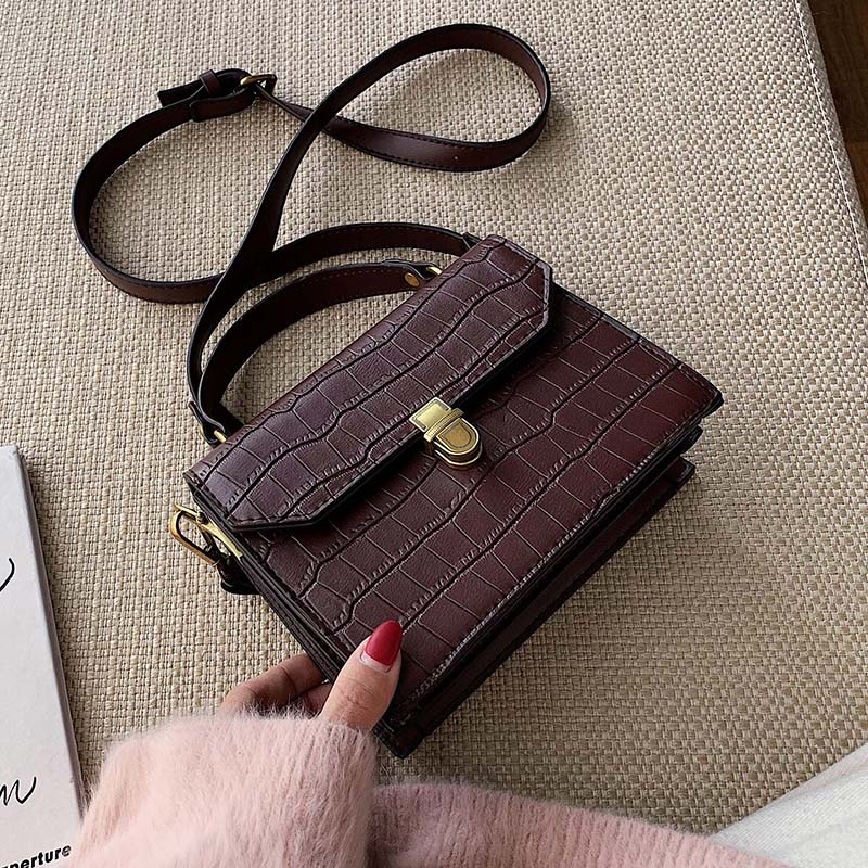 Stone Pattern PU Leather Crossbody Bags For Women 2020 MINI Shoulder Messenger Bag Female Fashion Handbags Totes