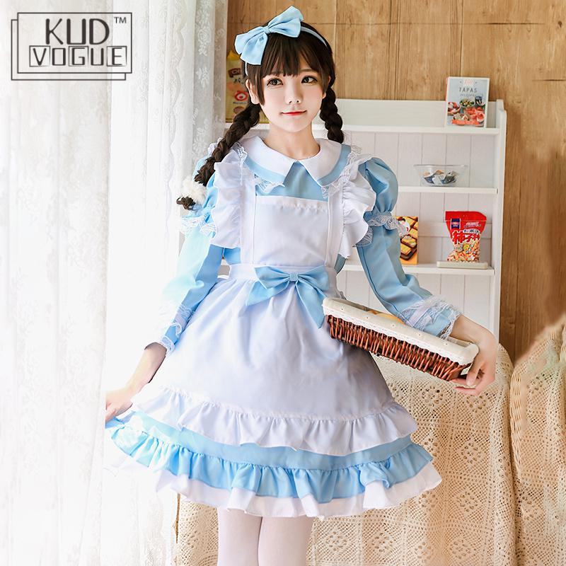 Alice In Wonderland Costume Lolita Dress Maid Cosplay Christmas Carnival Halloween Costumes F Women Maid Lolita Cosplay Costume